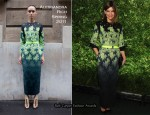 Natalie Massenet In Alessandra Rich - Runway To Green Event