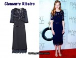 In Nicole Kidman's Closet - Clements Ribeiro Veronica Embellished Crepe and Lace Dress