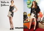 In Isla Fisher's Closet - Dolce & Gabbana Floral Lace Appliqué Cocktail Dress