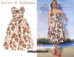 In Brooklyn Decker's Closet - Dolce & Gabbana Strapless Floral Dress