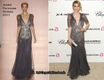 Emma Roberts In Jenny Packham - Elton John's AIDS Foundation's Oscar Viewing Party