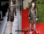 Zooey Deschanel In Valentino - 2011 Vanity Fair Oscar Party