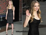 Amanda Seyfried In Versace - The Late Show with David Letterman