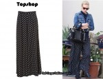 In January Jones' Closet - Topshop Polka Dot Wide Leg Pants