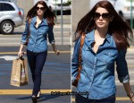 Double Denim Sidewalk Style: Ashley Greene In Kate Spade Jeans
