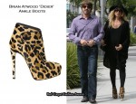 Maternity Style: Rachel Zoe In Brian Atwood 'Didier' Leopard Print Ankle Boots