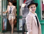 Emma Watson Shoots Lancôme Campaign In Paris: Day 2