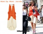 In Jennifer Love Hewitt's Closet - Marc by Marc Jacobs Colour-Block Halter Dress