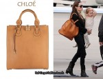 In Angelina Jolie's Closet - Chloe Aurore Leather Tote