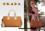 In Katherine Heigl's Closet - Prada Straw Tote