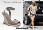 In Julianne Hough's Closet - Christian Louboutin I Love Espadrille Wedge Sandals