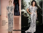 "Vanessa Hudgens In Jenny Packham - ""Sucker Punch"" LA Premiere"