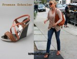 In Reese Witherspoon's Closet - Proenza Schouler Multi Wedge Sandals & Chloe Marcie Bag