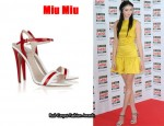 In Lily Cole's Closet - Miu Miu Two Tone Patent Sandals
