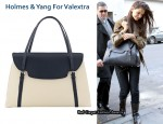 Katie Holmes Debuts Her Valextra for Holmes & Yang Bag