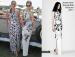 In Amber Le Bon's Closet - Jonathan Saunders Celyn Floral-Print Stretch-Silk Gown
