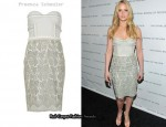 In Jennifer Lawrence's Closet - Proenza Schouler Strapless Dress