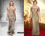 "Abbie Cornish In Alberta Ferretti - ""Sucker Punch"" London Premiere"