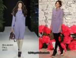 Alexa Chung In Mulberry - Mulberry Spring 2011 Korea Show
