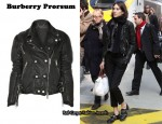 In Alexa Chung's Closet - Burberry Prorsum Quilted Leather Biker Jacket