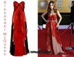 In Mila Kunis' Closet - Alexander McQueen Chiffon Bustier Dress