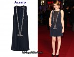 In Emily Browning's Closet - Azzaro Justine Embellished Mesh and Silk Dress
