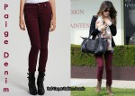 In Rachel Bilson's Closet - Paige Denim Leggings, Ray-Ban Original Wayfarer Sunglasses & Burberry Prorsum Knight Bag