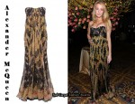 In Blake Lively's Closet - Alexander McQueen Black Silk Floral Dress