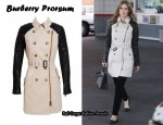 In Nicky Hilton's Closet - Burberry Prorsum Gabardine Trench With Leather Sleeves