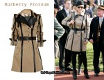 In Zara Phillips' Closet - Burberry Prorsum Leather-Trimmed Twill Trench Coat
