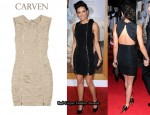 In Demi Moore's Closet - Carven Bow Back Ruched Taffeta Dress