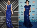 Dita von Teese In Jenny Packham - Perez Hilton's Blue Ball Birthday Celebration