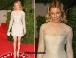 Elizabeth Banks In Versace - 2011 Vanity Fair Oscar Party