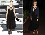 Emma Stone In Chanel - Chanel and Charles Finch Pre-Oscar Dinner