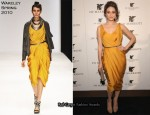 Emmy Rossum In Amanda Wakeley - JW Marriott Chicago Grand Opening