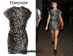 In Frankie Sandford's Closet - Topshop Leopard Tuck Dress