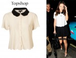 In Jamie Chung's Closet - Topshop Scallop Shirt