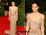 Jessica Biel In Atelier Versace - 2011 Vanity Fair Oscar Party