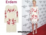 In Kate Bosworth's Closet - Erdem Embroidered Lace Crepe Dress