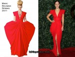 Katharine McPhee In Marc Bouwer - QVC Red Carpet Style Party