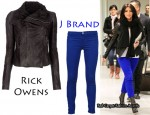 In Kim Kardashian's Closet - Rick Owens Leather Jacket & J Brand Jeans