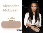 In Kim Kardashian's Closet - Alexander McQueen Studded Knuckle Box Clutch