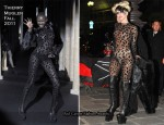 Runway To Sidewalk - Lady Gaga In Thierry Mugler