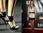 "Cameron Diaz In Roland Mouret, Elizabeth & James and Lanvin - ""Bad Teacher"" Photocall"