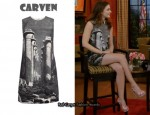 In Leighton Meester's Closet - Carven  Column Print Dress