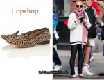 In Lindsay Lohan's Closet - Topshop Kosy Leopard Print Suede Slippers