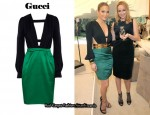 In Jennifer Lopez' Closet - Gucci Multi-Strap Two Tone Cut-Out Dress