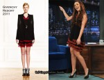 "Miley Cyrus In Givenchy - ""Late Night with Jimmy Fallon"""