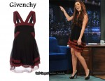 In Miley Cyrus' Closet - Givenchy Chiffon Dress