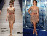 In Minka Kelly's Closet - Vivienne Westwood Gold Label Lace Dress
